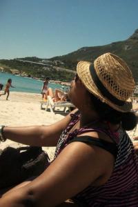 Lee Dumisa enjoying Cape Town's summer